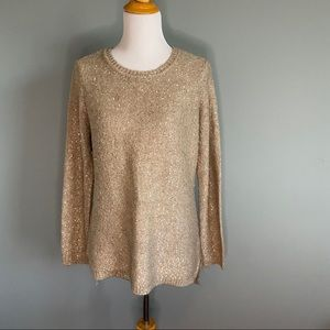 Calvin Klein sweater with gold sequin details